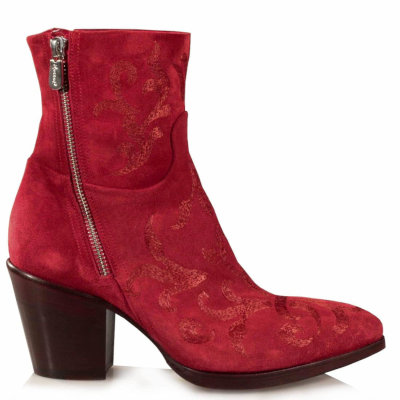 Red embroidered boots - Rocco P.